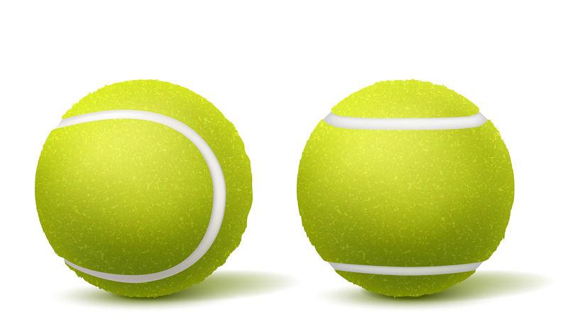 网球顶部,侧视图真实矢量