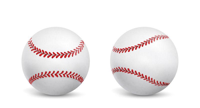 新的棒球孤立现实向量