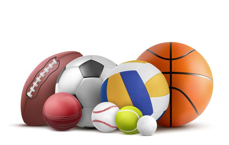 足球、橄榄球、棒球和其他运动用球