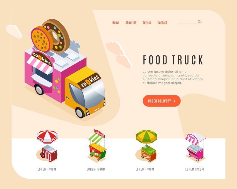 食品车等距登录页