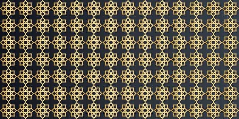 矢量金色图案背景