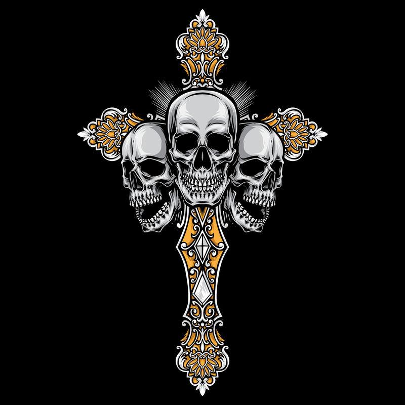 艺术十字架矢量设计