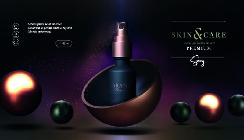 矢量护肤品广告海报设计