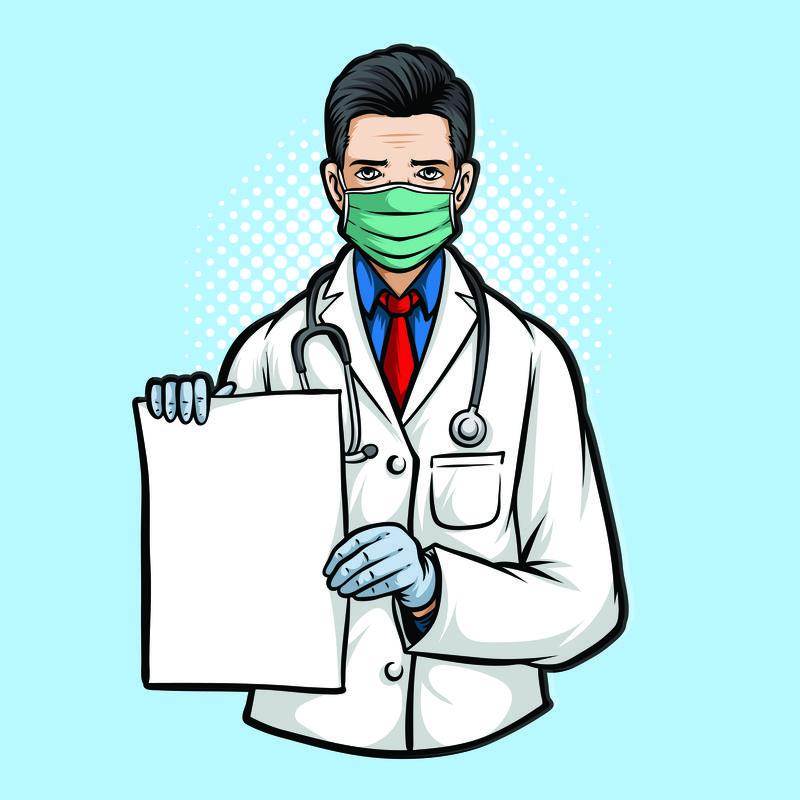 矢量病毒防疫人员