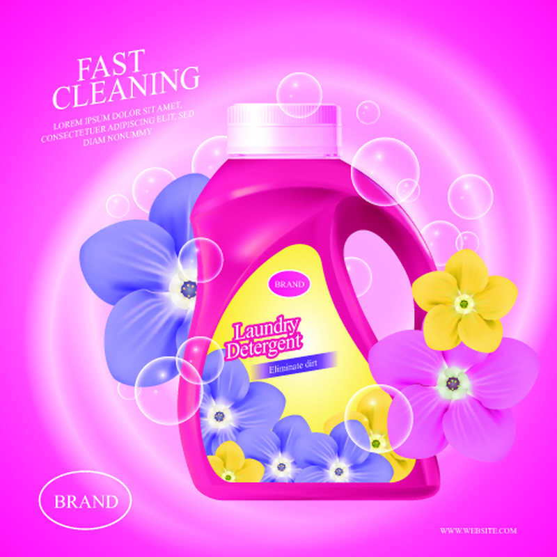矢量洗涤剂广告海报设计