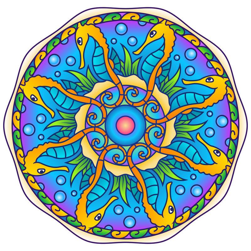 彩色图案矢量设计