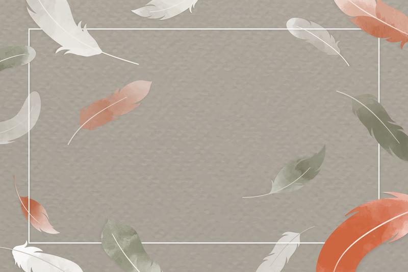 羽毛元素矢量设计