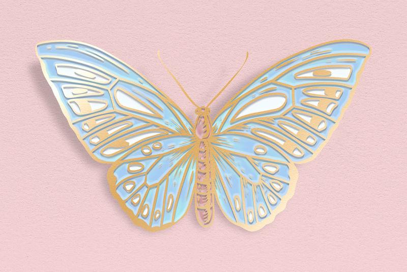 可爱的粉彩蝴蝶设计元素