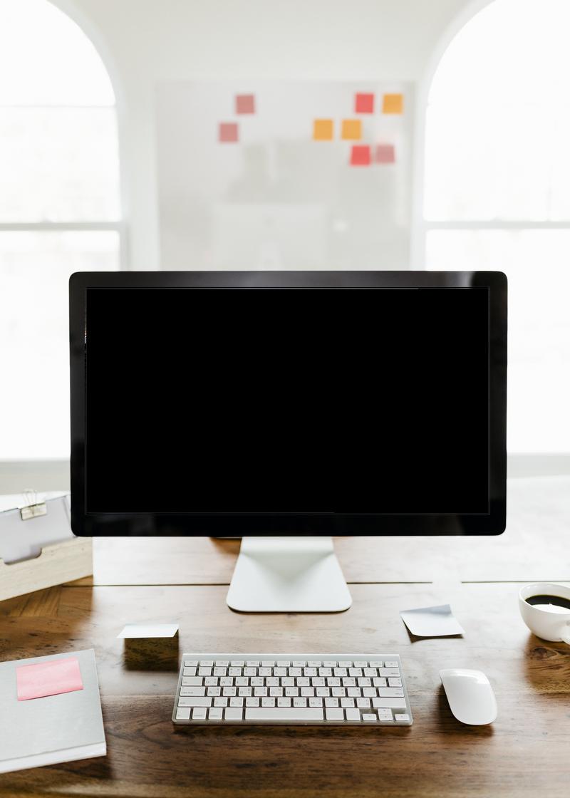 桌面电脑屏幕透明png