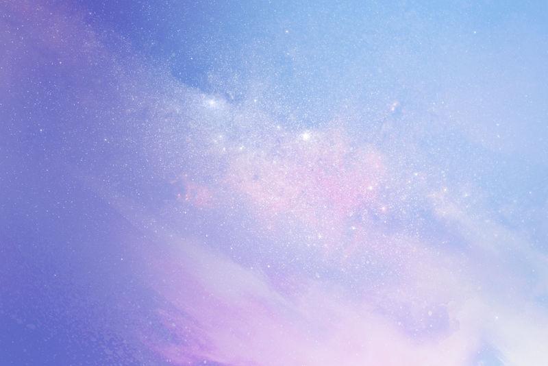 彩色星系图案背景插图