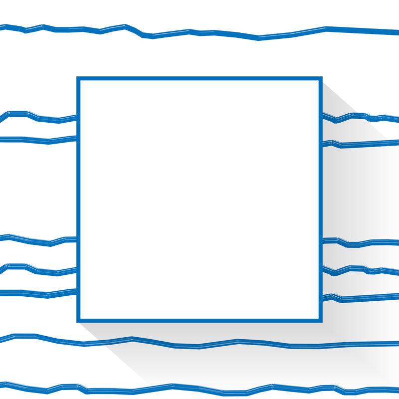 空白正方形抽象帧向量