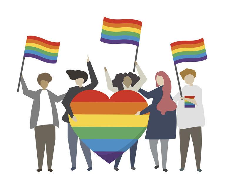 骄傲的人旗概念图