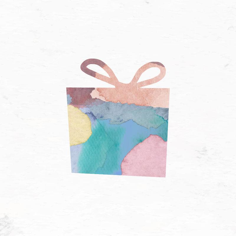 彩色圣诞礼品盒载体