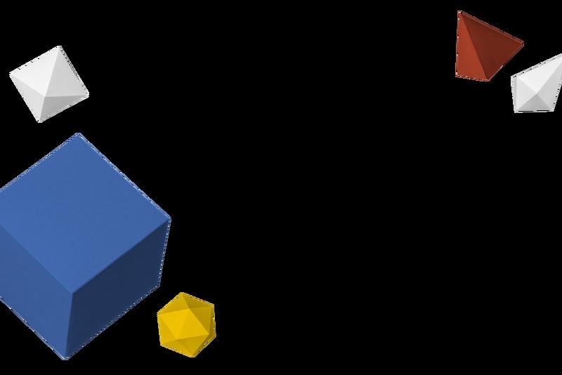 三维彩纸工艺几何框架设计元素