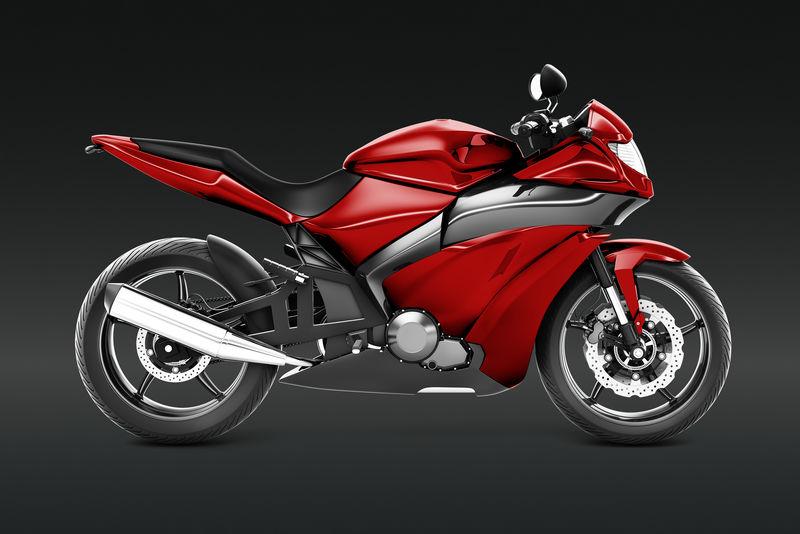 红色运动自行车3D矢量