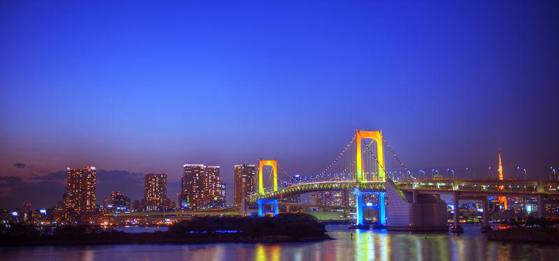 东京彩虹桥全景图