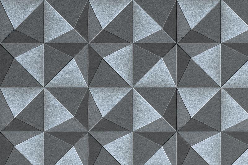 3D蓝灰色纸工艺五面体图案背景
