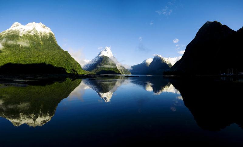 声米尔福德峡湾新西兰