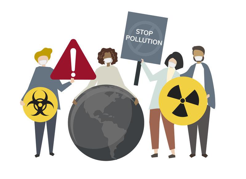 民众抗议放射性污染概念说明