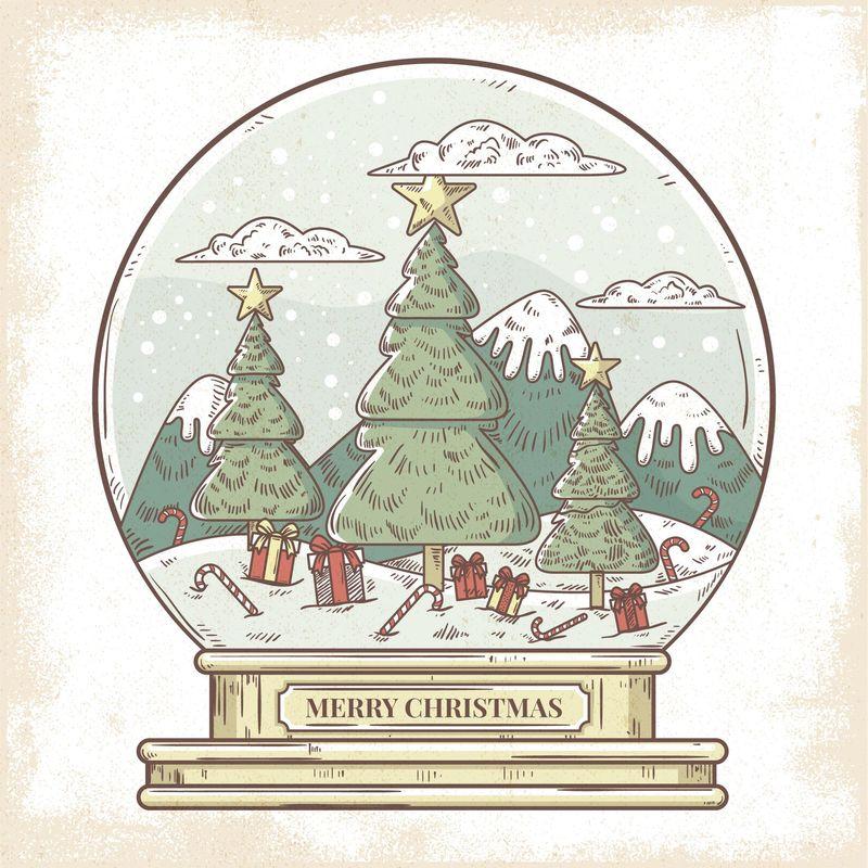 圣诞节插画矢量