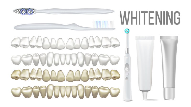 刷牙美白洁牙器械集向量机