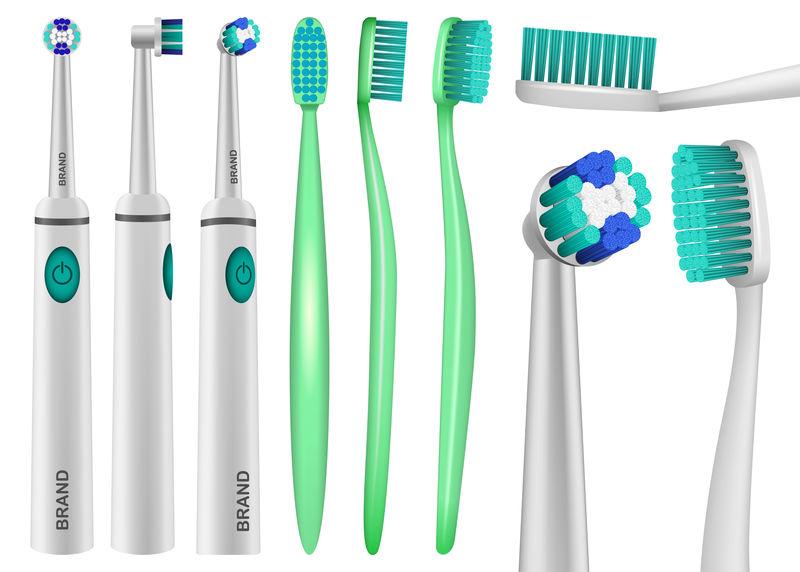 牙刷牙模型套装,逼真风格