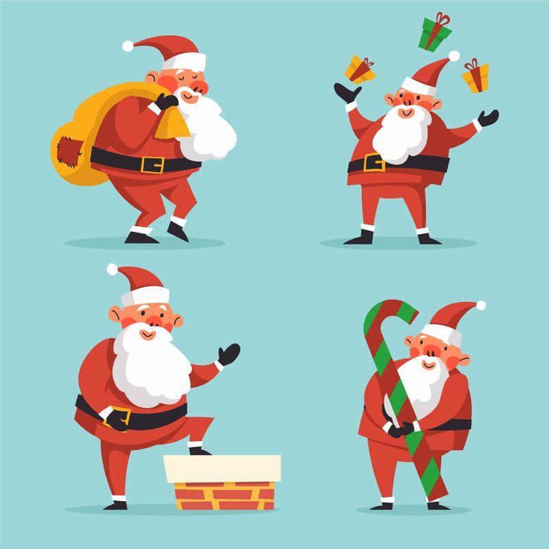 矢量圣诞老人设计