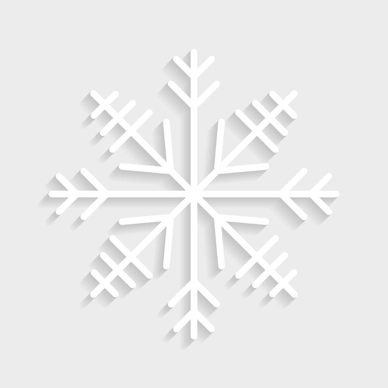 圣诞雪花社交广告模板插图