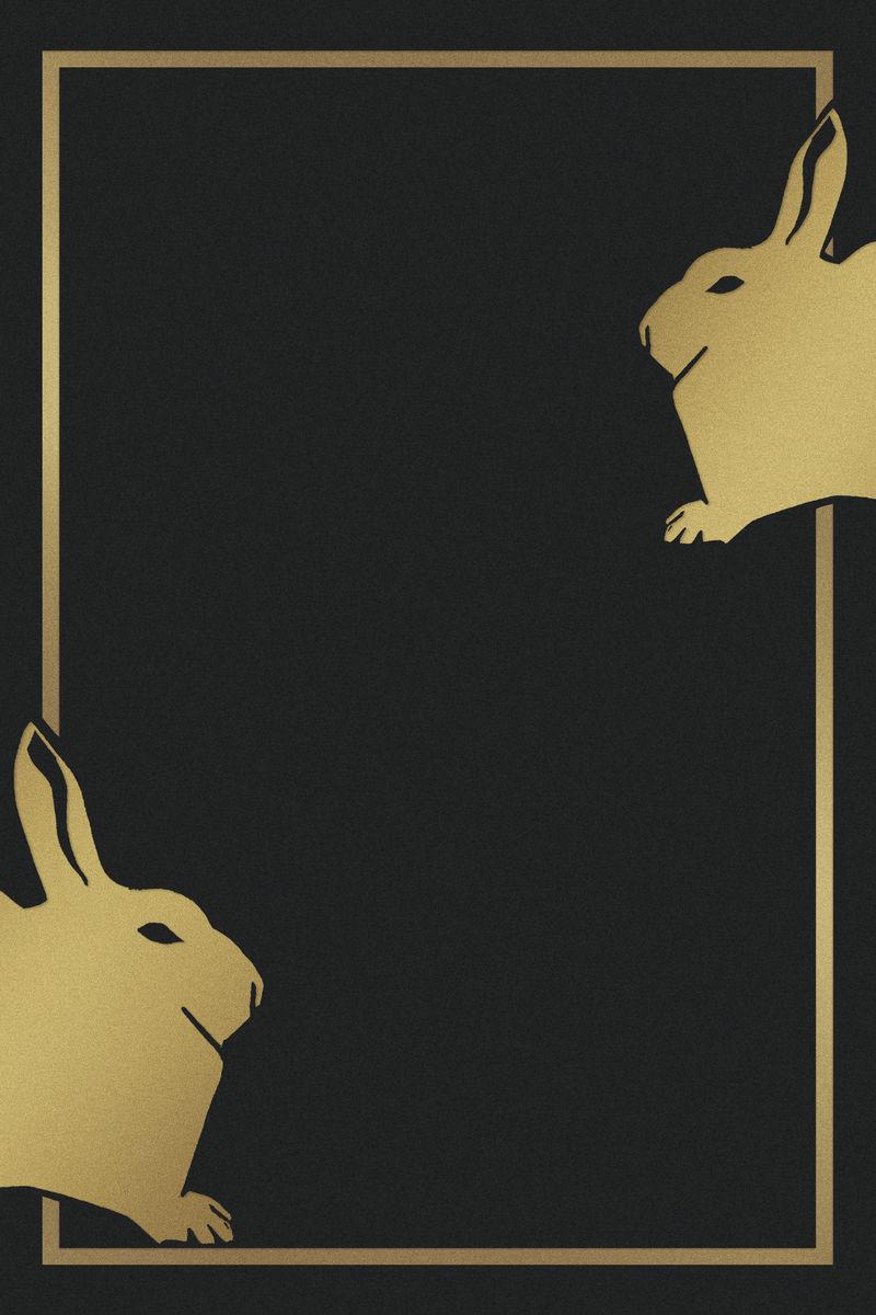 复古金兔框艺术印刷品塞缪尔·杰瑟伦·德梅斯基塔艺术作品的混音