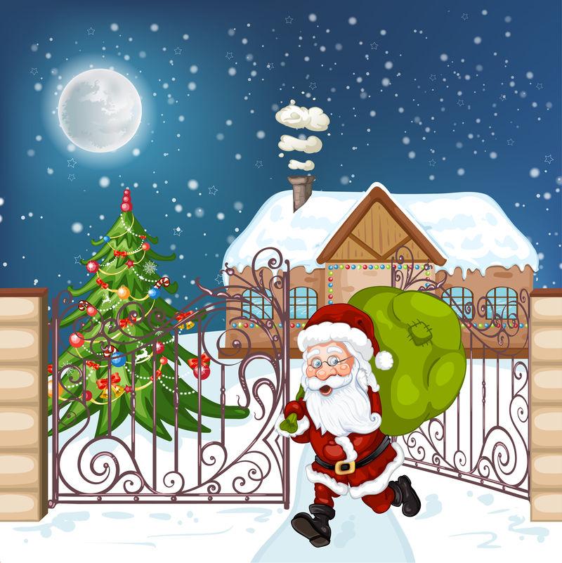 矢量圣诞快乐插图