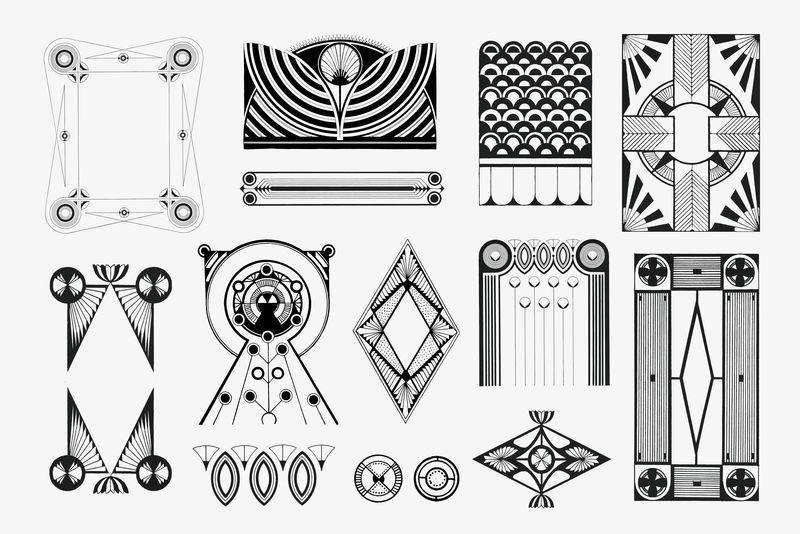 复古黑白装饰psd艺术印刷品塞缪尔·杰瑟伦·德梅斯基塔艺术作品混搭