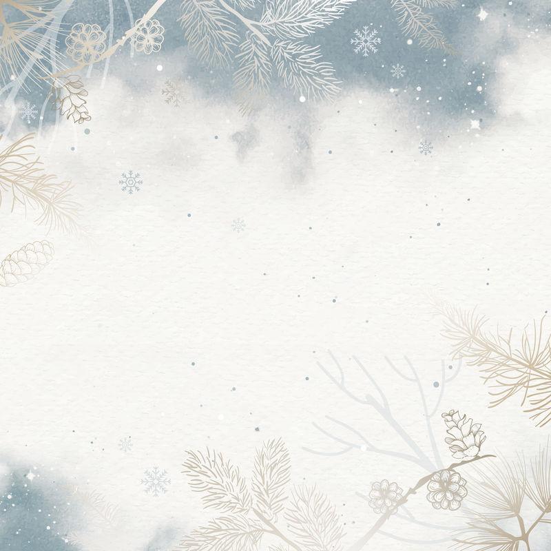 冬季背景手机壁纸矢量