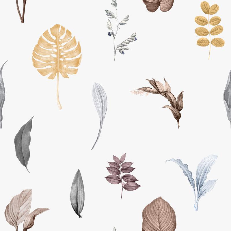 热带树叶背景设计向量