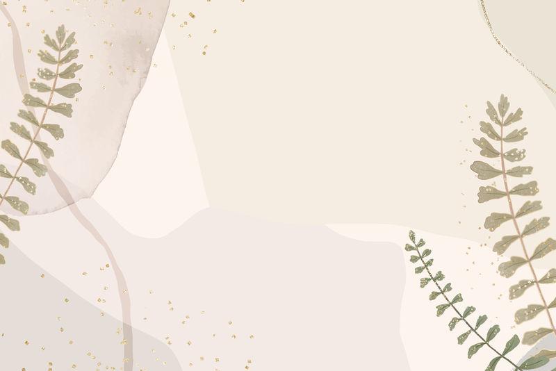 现代抽象粉色背景带叶子