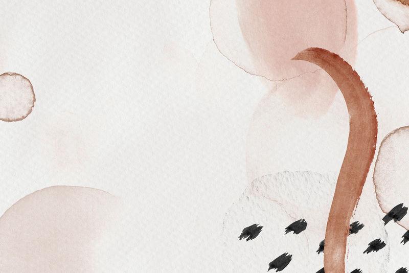 棕色抽象孟菲斯水彩背景