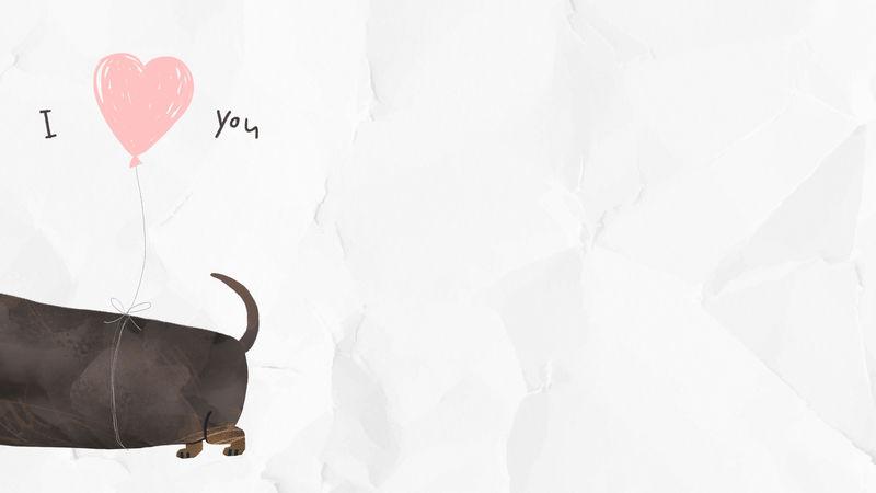 腊肠与我爱你的背景插图