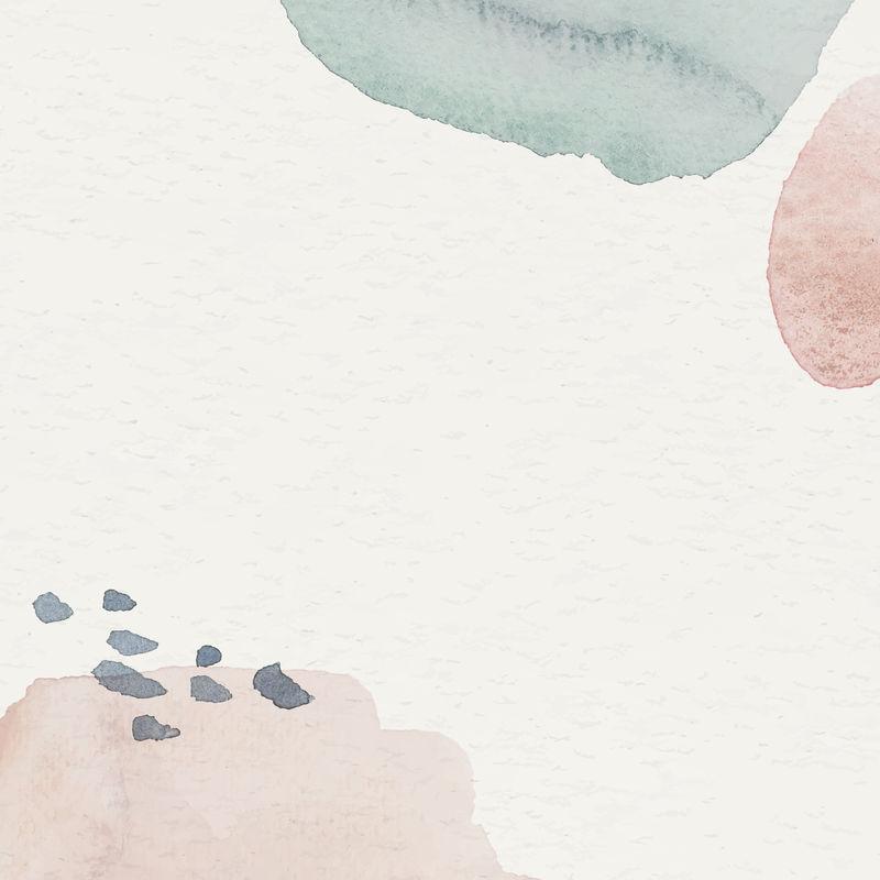 粉蓝水彩图案背景模板向量