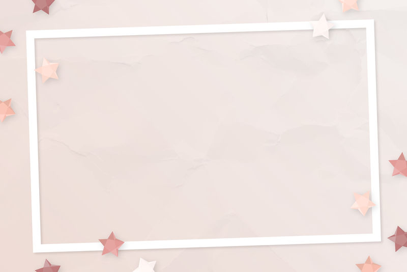 粉红星框架设计向量
