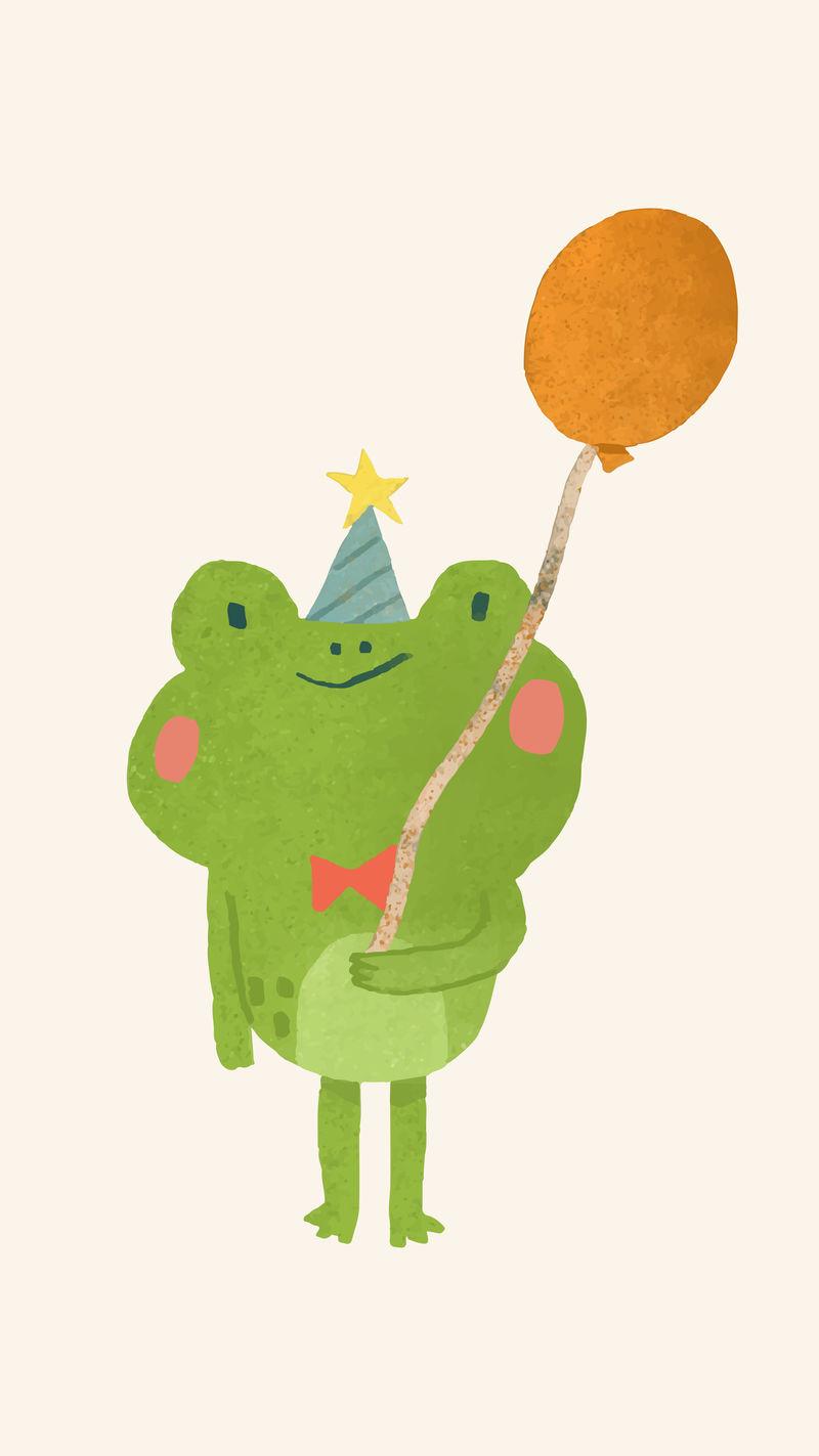 可爱的节日青蛙元素向量