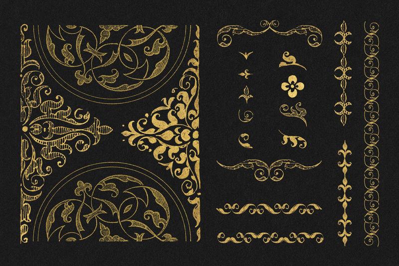 维多利亚黄金复古分割psd集混音从模型书的书法乔里斯霍夫纳格尔和乔治博茨凯