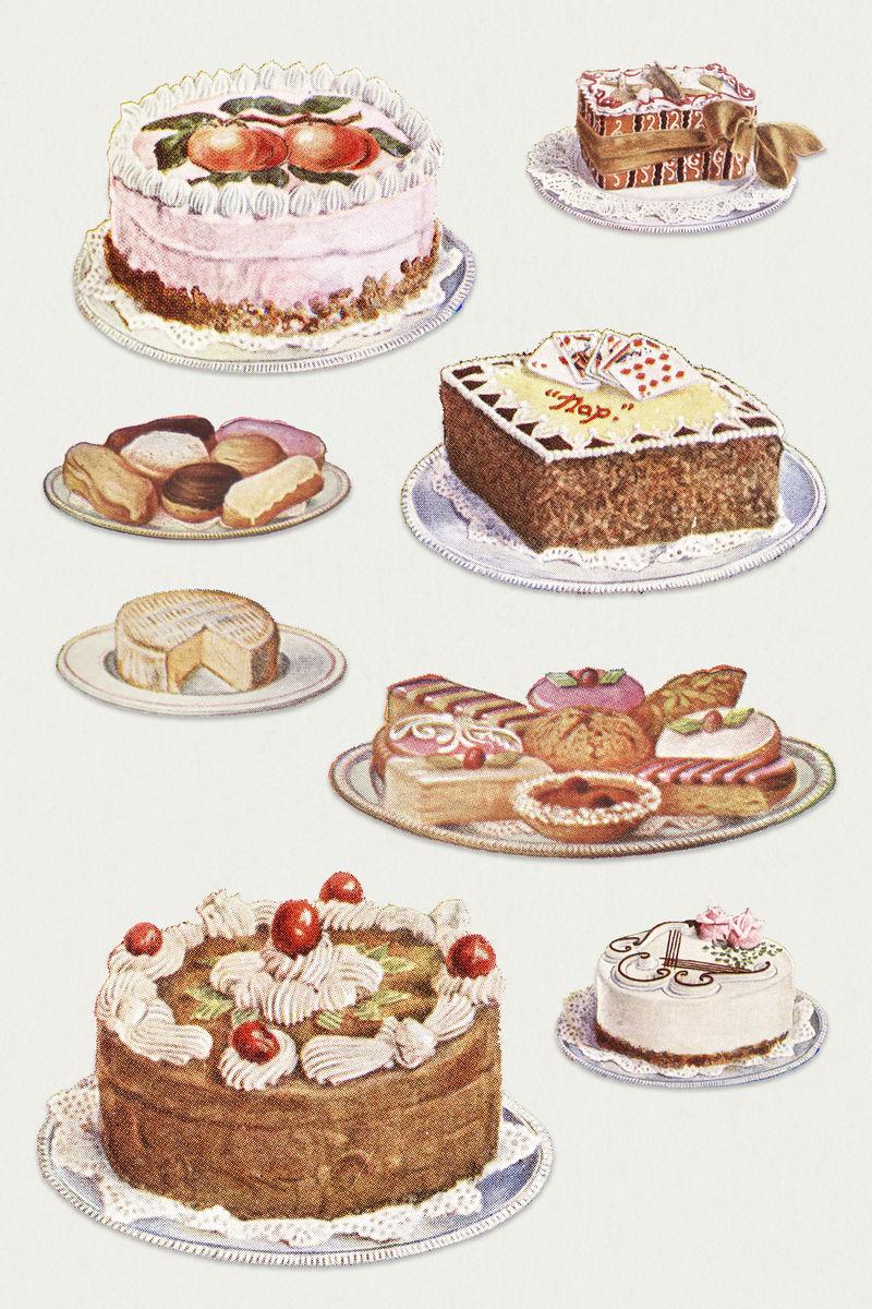 手绘甜点设计资源集\u003Cbr\/\u003E\n