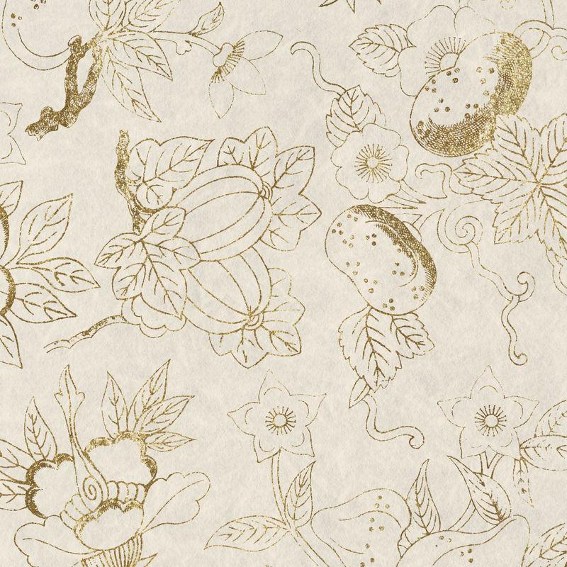 金灿灿的花朵图案背景设计