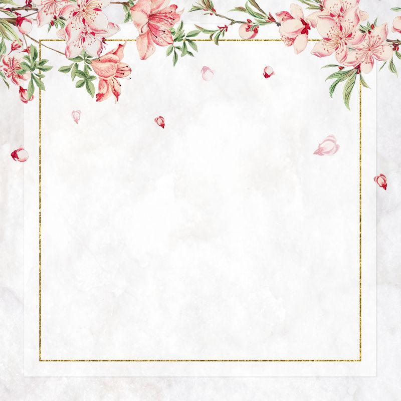 复古日本帧psd桃花艺术印刷品混音从梅加塔森冈的艺术作品