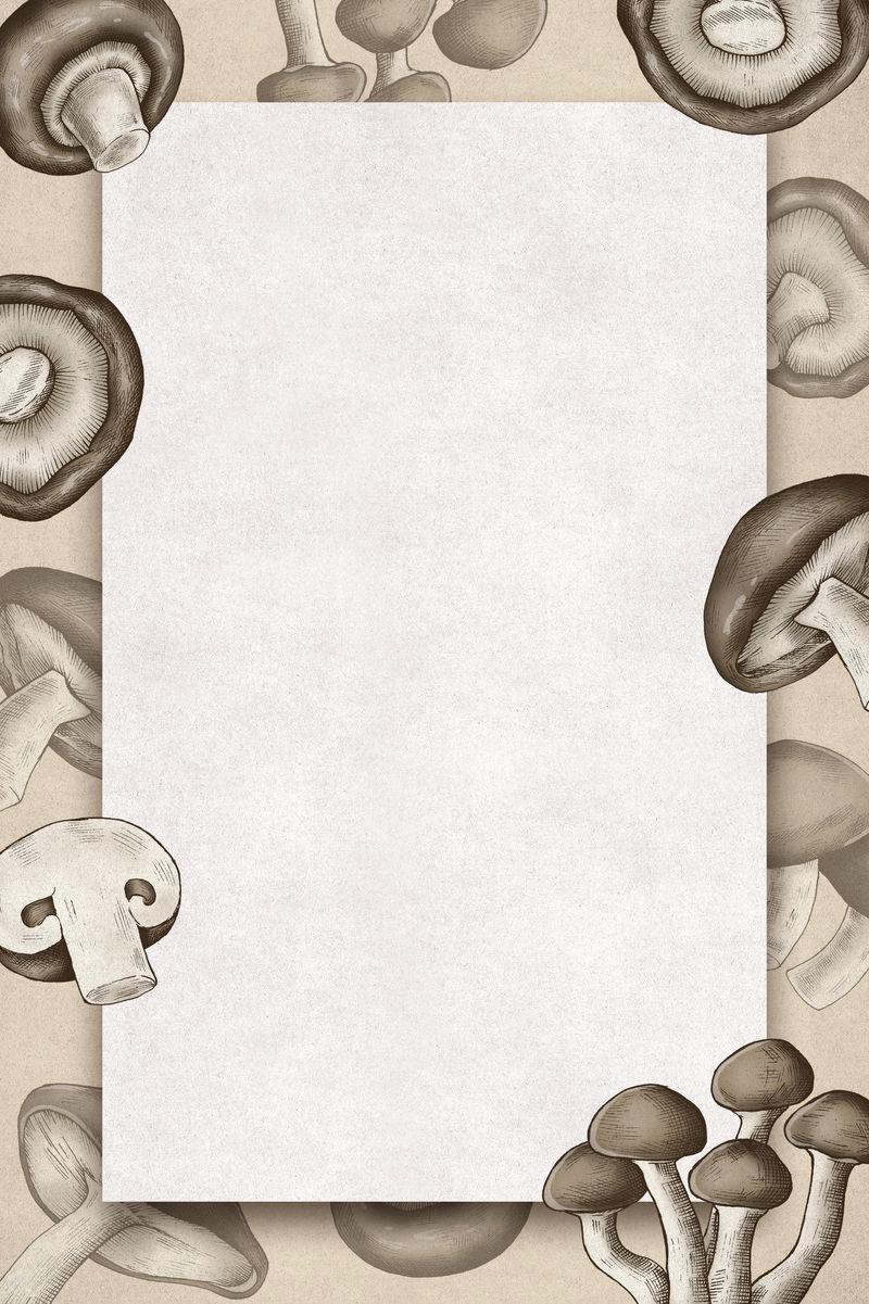 手绘有机蘑菇架