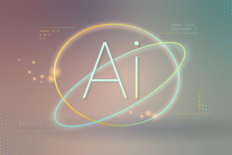 AI未来技术背景向量