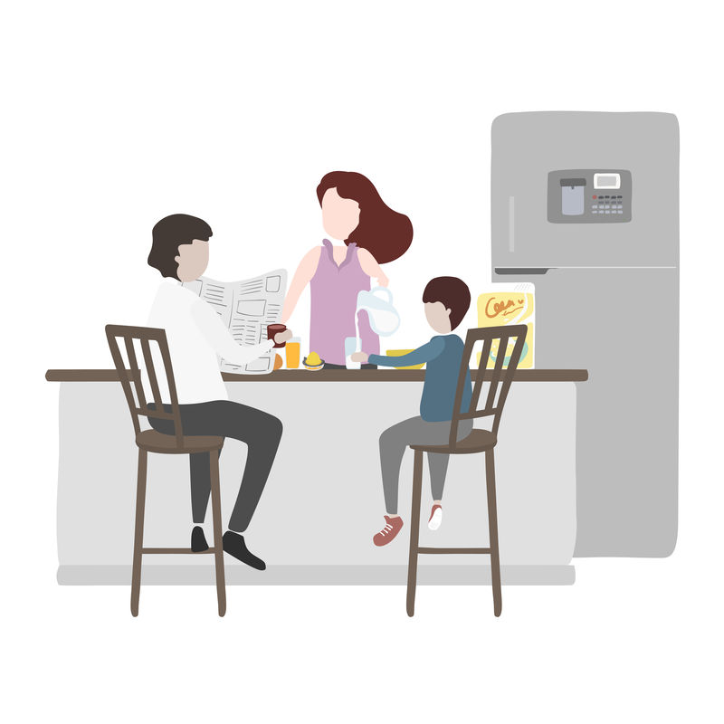 家庭和家庭向量