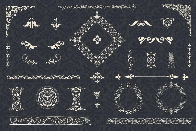 复古白色装饰psd集混音从模型书的书法乔里斯霍夫纳格尔和乔治博茨凯