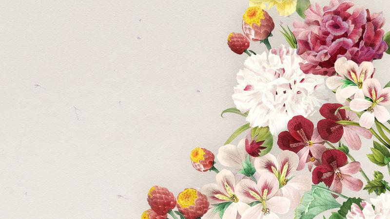 空白彩色花框壁纸模型