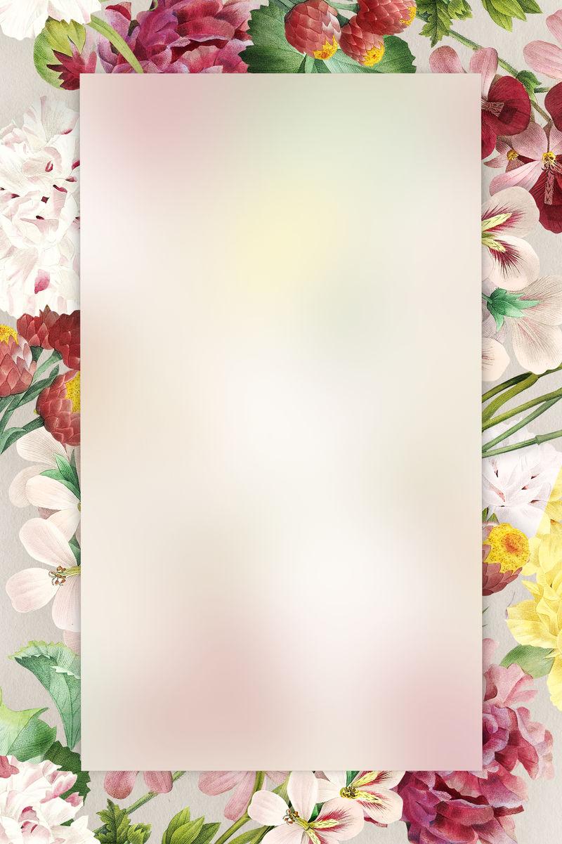 彩色矩形花框模型
