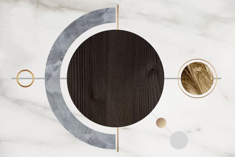 抽象圆棕木框向量